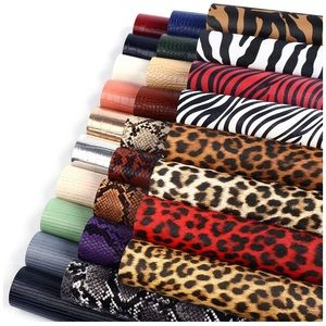 27PCS Faux Leather Fabric Sheets Crafts DIY